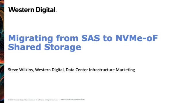 Migrating from SAS to NVMe-oF Shared Storage