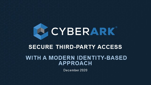 Secure Third Party Access with a Modern Identity-Based Approach