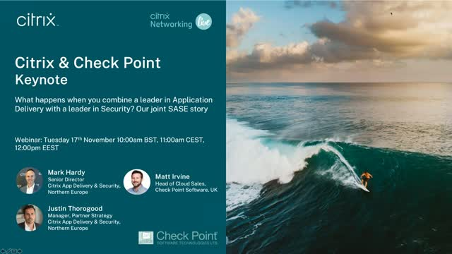 Citrix SD-WAN and Checkpoint - a new collaboration providing new options