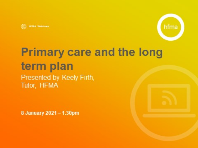 Primary care and the long term plan