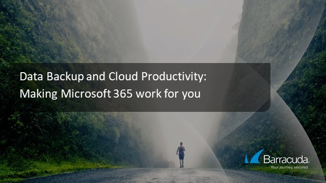 Data Backup and Cloud Productivity: Making Microsoft 365 work for you