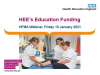 Health Education England's Education Funding
