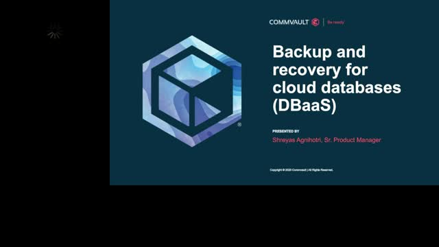 How to Provide Backup and Recovery for Cloud Databases (DBaaS)