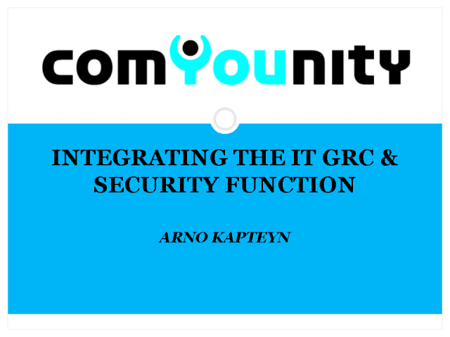Integrating the IT GRC & Security Function