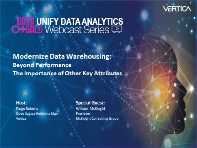 Thought Leadership Series:  Modernize Data Warehousing – Beyond Performance