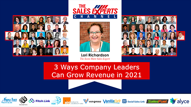 3 Ways Company Leaders Can Grow Revenue in 2021