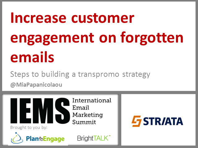 Steps Towards Building an Effective Transpromo Strategy Across All Emails