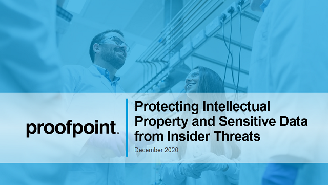 Protect Intellectual Property & Sensitive Data from Insider Threats
