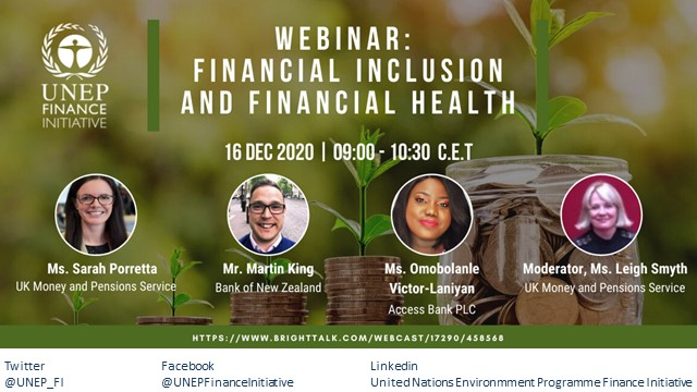 Webinar on Financial Inclusion and Financial Health