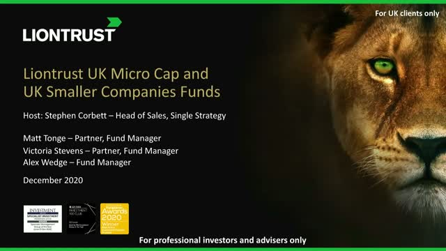Update on Liontrust UK Smaller Companies & UK Micro Cap Funds (UK ONLY)
