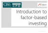 CPD: Introduction to factor-based investing