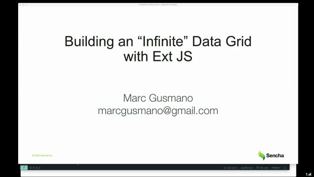 "Building an ""Infinite"" Data Grid with Ext JS"