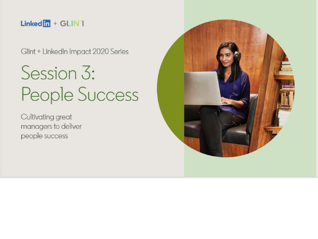 LinkedIn+Glint Impact 2020: Developing People Managers