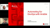 Automating for DevOps with Red Hat Ansible Automation Platform