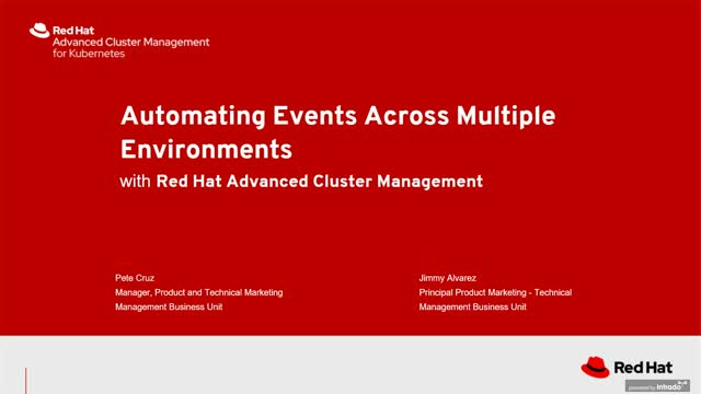 Automating events across multiple environments