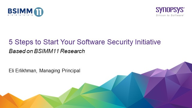 5 Steps to Start Your Software Security Initiative