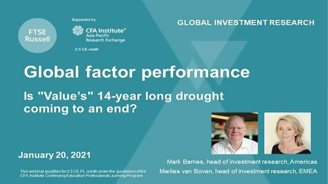 Global Factor performance. Is Value's rebound sustainable?