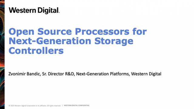 Open Source Processors for Next-Generation Storage Controllers