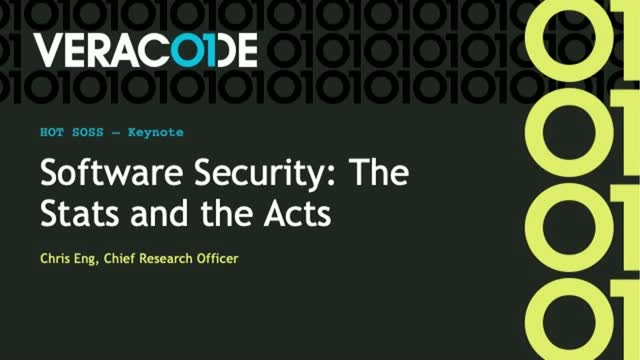 Keynote: Software Security: The Stats and the Acts