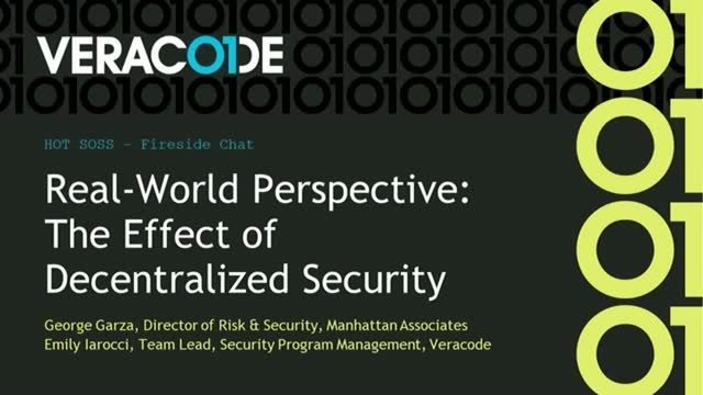 Fireside Chat: Real-World Perspective: The Effect of Decentralized Security