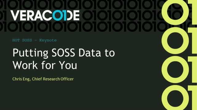 Closing Keynote: Putting SOSS Data to Work for You
