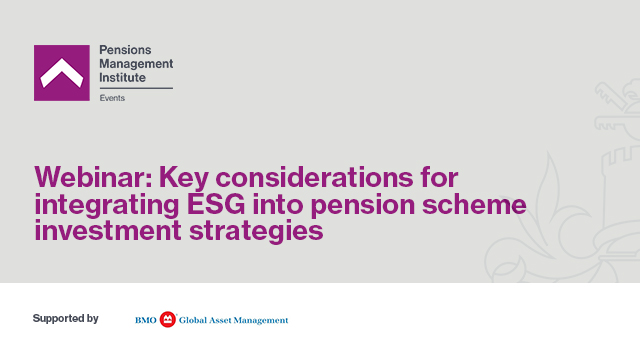 Key considerations for integrating ESG into pension schemeinvestment strategies