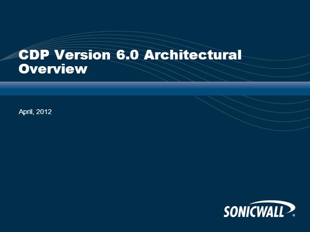 SonicWALL CDP 6.0: In Action
