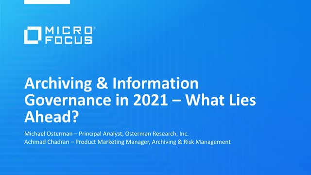 Archiving & Information Governance in 2021 – What Lies Ahead?