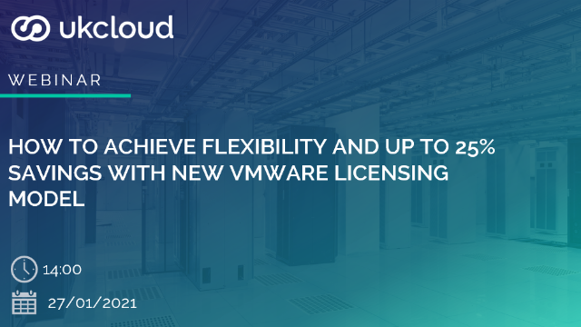 How to achieve flexibility and up to 25% savings with new VMware licensing model