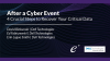 After a Cyber Event: 4 Crucial Steps to Recover Your Critical Data