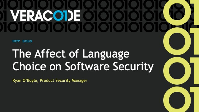The Affect of Language Choice on Software Security