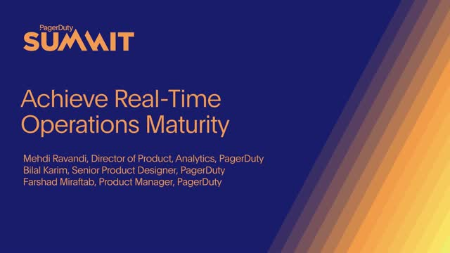 Achieve Real-Time Operations Maturity