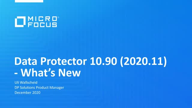 What's New in Data Protector 2020.11?
