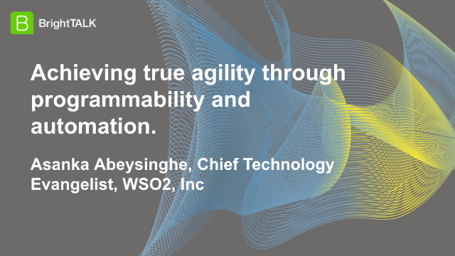 Achieving true agility through programmability and automation.