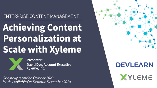 Achieving Content Personalization at Scale with Xyleme