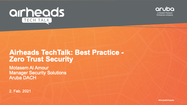 Airheads TechTalk: Best Practice - Zero Trust Security [GERMAN]