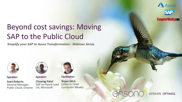 Beyond cost savings: Moving SAP to the Public Cloud