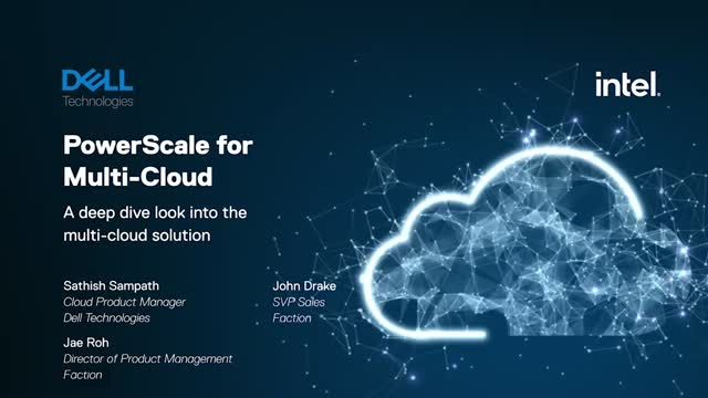 Dell Technologies PowerScale for Multi Cloud