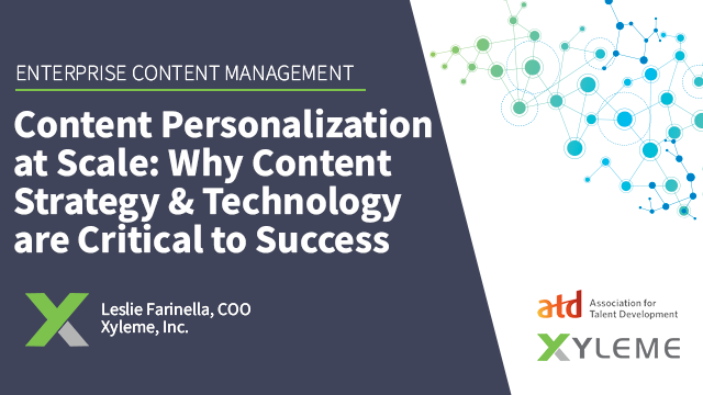 Personalization at Scale: Why Content Strategy & Technology are Critical