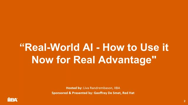 Real-world AI - How to use it now for real advantage