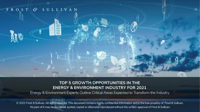 Top 5 Growth Opportunities in the Energy & Environment Industry for 2021