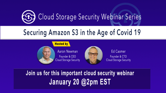 Securing Amazon S3 in the Age of Covid 19