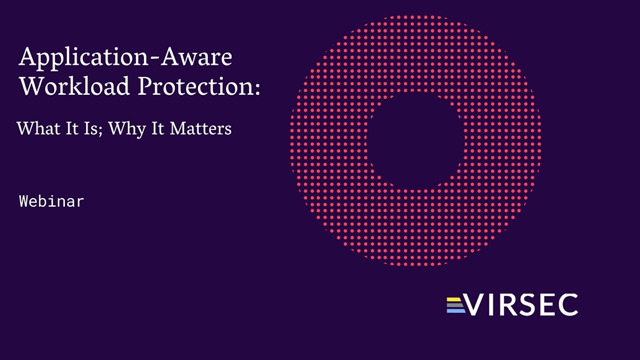 Application-Aware Workload Protection: What It Is; Why It Matters