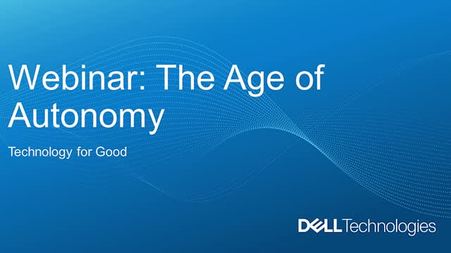The Age of Autonomy: Technology for Good