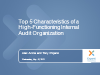 Top 5 Hallmarks of a High-Functioning Internal Audit Organization