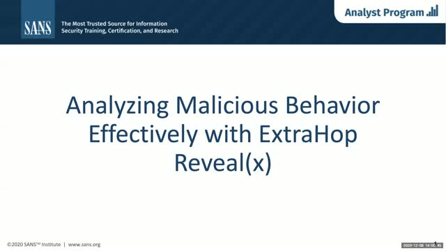 Analyzing Malicious Behavior Effectively