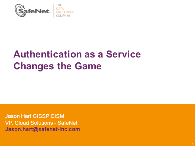 Authentication as a Service Changes the Game