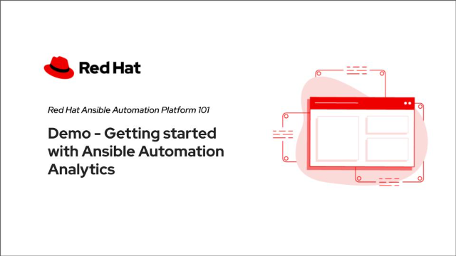 Demo – Getting started with Ansible Automation Analytics