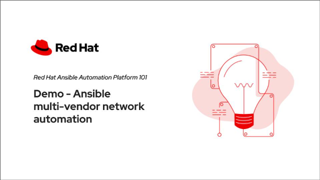 Demo – Ansible multi-vendor network automation