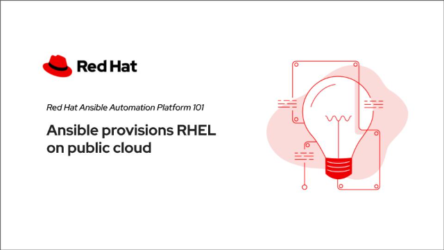 Ansible provisions RHEL on public cloud